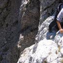 Najstrmejši del sestopa z Vevnice (v smeri Struga)