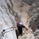 Na poti od Planike proti Triglavski škrbini