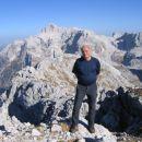 Na vrhu Velikega Špičja - pogled proti Triglavu in Kanjavcu