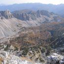 Dolina Triglavskih jezer z vrha Velikega Špičja
