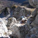 V akciji nekje na začetku plezanja