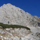 Dolkova špica; smer vzpona je desni greben