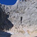 Stena, čez katero splezamo na Grlo