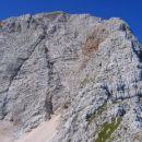 Kukova špica in njen vzhodni greben na desni