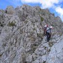 Na ostrem grebenu Vernarja (sestop)
