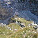 Čez trave z Bohinjskih vratc proti Vernarju - pogled nazaj