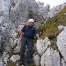 Sestop z Moreža: v žlebu malo pod vrhom