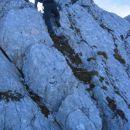 Sestop s Trentskega Pelca proti Staremu Utru: strm skok v grebenu