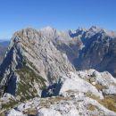Panorama s Srebrnjakovega vzhodnega predvrha v smeri Trentskega Pelca