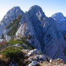 Pogled z Ribežnov proti Srebrnjaku in Bavškemu Grintavcu