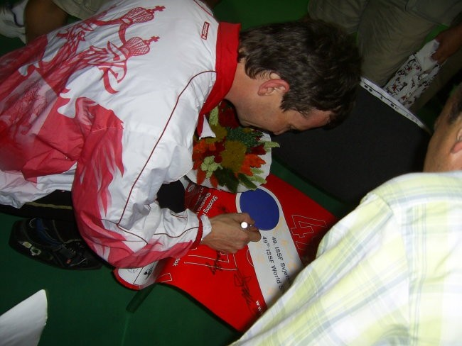 Podpis svetovnega prvaka