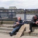 Čakanje na turistično barko v Greenwichu