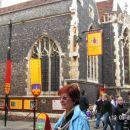 V središču Canterburyja v spomin na Geoffreya Chaucerja..