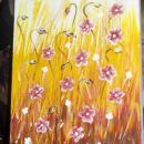 Prijazna učiteljica Tina, ki vodi tečaje pri Hobby & Art, nam je pokazala tehniko slikan