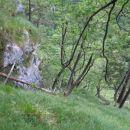 Nad Strmim pobočjem, nad strmo grapo...