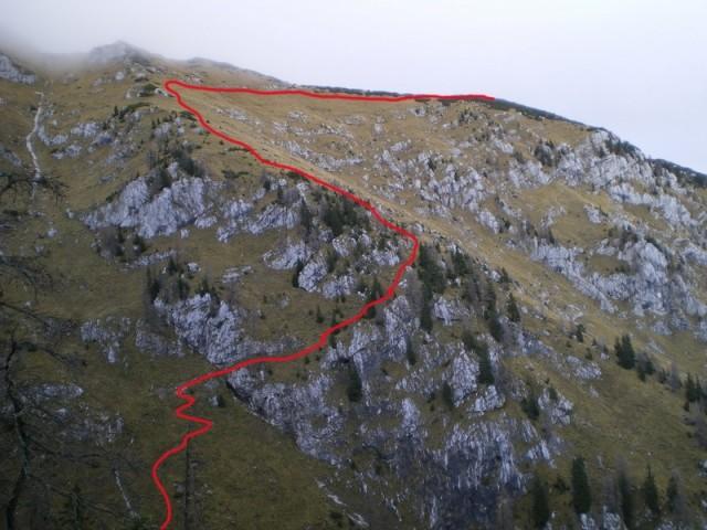 Od Medvedje jame do vrha Mokrice ...
