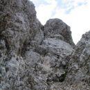 Pristop na 'konjiča'-zadnji kamin pred grebenskim naskokom...