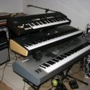 Hammond XB-1 + Yamaha S80 + Motif 8 and Motion sound in the back