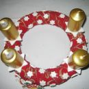 adventni venček 2006: zvezdice narejene iz bele das mase
