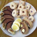 Čokoladno orehove lunice, Vanilice, Mačje oči, kokosova salama (jajčka)