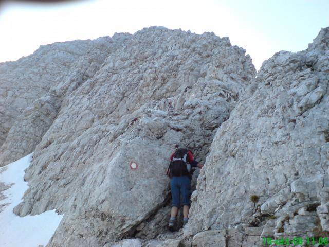 Senca - skale so prekleto spolzke...
