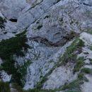 nekje v višini Kamniškega dedca je prehod na Planjavske zelenice