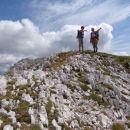 tam je naslednji cilj, najvišji vrh na koncu grebena - Mišelj konec.