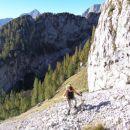 vrh Kališča, zadaj vrh Triglava