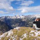 pogled proti zahodu, greben Pelcev, Jalovec do Mojstrovk