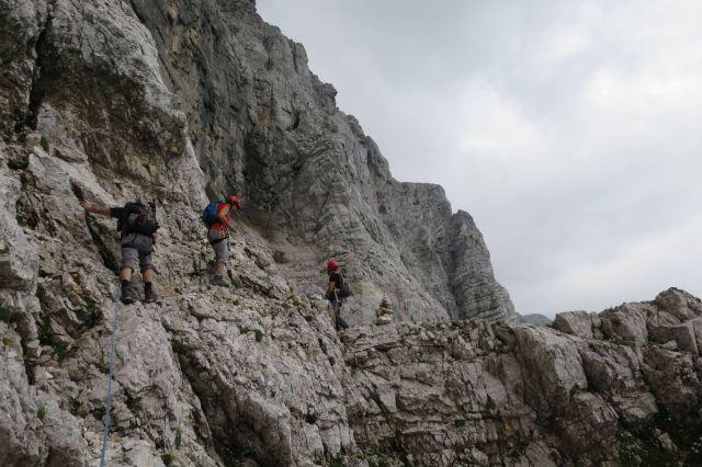 Slovenska smer v 3glavski steni, 09.08.2016 - foto