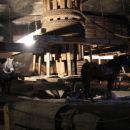 Prikaz dvigovanja nakopane soli po nivojih navzgor