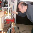 Začetek montaže gredi ( blajerice). važna je pravokotnost in pravilen razmak med ležaji in