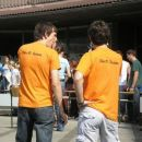 the D team... hja, nič se niso omehčali, čeprov smo se tko lepo poklonili ..:P