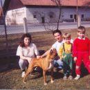 Juna Uroš in Tadej, stric in teta 1993