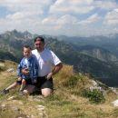 Matej in jaz na Šiji nad smučiščem Vogel (cca 2000m)