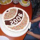 Še eno novoletno druženje, ampak notranjost tortice ni bila tako zelo novoletno slavnostna