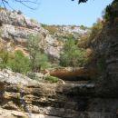 Tudi zgornji slapovi so presahnili ... suša ...