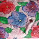 rutka za okoli vratu - kontura, barva za svilo