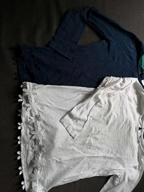 Modra in bela majica komplet 128